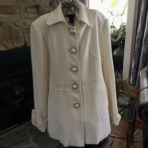 Rafaella Cream Coat - Size 14